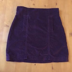 UO Play by C. Ronson High-Waisted Corduroy Skirt